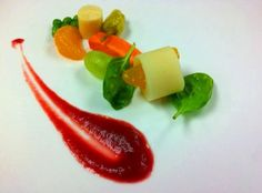 Tropical Salad with Beets Puree