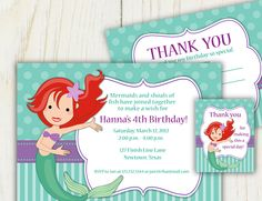 mermaid themed birthday party!