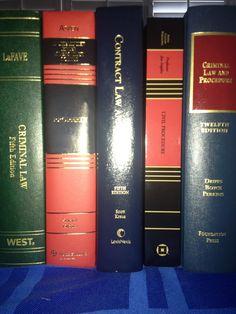 Law school. My 1L first semester books