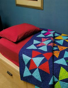 Sew in Love {with Fabric}: Star Shadow: A Modern Marks quilt