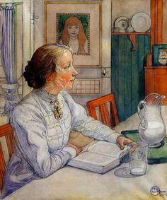 'Portrait of my daughter' of Carl Larsson  (1853 - 1919)
