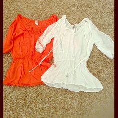💥SALE💥 2 Blouses for the price of 1 !! 2 adorable, shoulder cut-out blouses for the pice of 1! See additional/individual pictures for details Tops Blouses