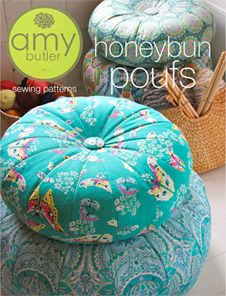 Amy Butler Honey Bun Pouf Pattern - via Etsy Amy Butler, Fabric Crafts, Sewing Crafts, Sewing Projects, Diy Projects, Diy Crafts, Sewing Pillows, Diy Pillows, Floor Pillows