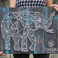 Elefant in String Art