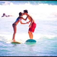Surf with your sweetie on a beach date!