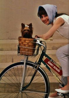 Audrey (with her dog Famous in the basket)