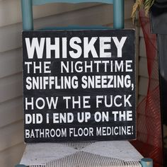 Helpful Hints For Completing Your Home Improvement Projects Whiskey Sign -Wooden Sign- Hand Painted-Home Decor-Wall sign-humourous sign-unique gift-funny sign-bar sign-bar decor-man cave sign Home Bar Decor, Pub Decor, Home Decor Signs, Wall Decor, Home Bar Signs, Sign Quotes, Funny Quotes, Funny Memes, Humor Quotes