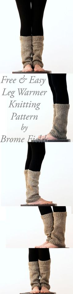 FREE & Easy Leg Warmer Knitting Pattern by Brome Fields