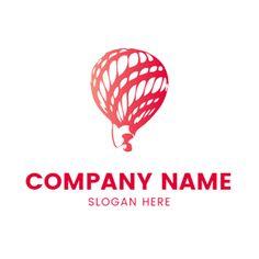 Red and White Hot Air Balloon logo design Balloon Logo, Red Balloon, Hot Air Balloon, Balloons, Custom Logo Design, Custom Logos, Graphic Design, Air Ballon, Online Logo