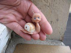 Spielzeug TOY für RealPuki BJD Puppe OOAK  miniatur Handmade Schnecke for Real Puki Pukifee doll Fairyland von NiceMiniThings auf Etsy