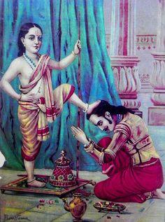 Reprints of Raja Ravi Varma Paintings: Vamana Avatar - Incarnation of Vishnu