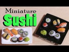 Miniature Sushi Tutorial - Polymer Clay - YouTube
