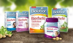 Biolabor® Bierhefe-Produkte – design by www.switch-design.de
