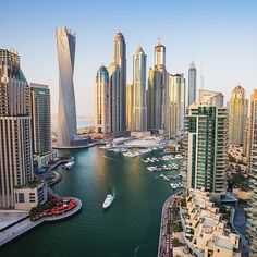 visit.dubaiStunning view of the #Dubai Marina.