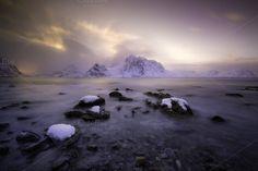 Sunset over Lofoten by inigocia on Creative Market