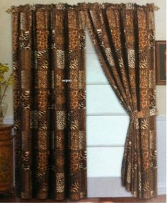 These Are The Curtains That I Bought For The Living Room. I Am Doing An  Animal Print/safari Theme. Very Different From My Purple And Hummingbirds  Of The ...