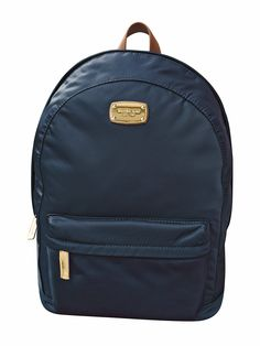 Amazon.com: Michael Kors Jet Set Large Nylon Backpack with Leather Straps … (Navy): Shoes | @giftryapp