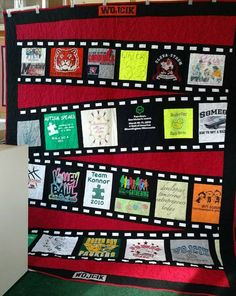 movie film t. Shirt quilt 2019 movie film t. Shirt quilt The post movie film t. Shirt quilt 2019 appeared first on Quilt Decor. Quilting Tips, Quilting Tutorials, Quilting Projects, Quilting Designs, Quilting Board, Sewing Projects, T-shirt Quilts, Strip Quilts, Sampler Quilts