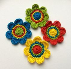 Articles similar to Crochet Coasters, Cath Kidston Inspired, coasters, Table Savers … – Curtains 2020 Crochet Flower Patterns, Flower Applique, Crochet Motif, Crochet Flowers, Crochet Stitches, Knit Crochet, Crochet Hats, Crochet Decoration, Mesh Ribbon