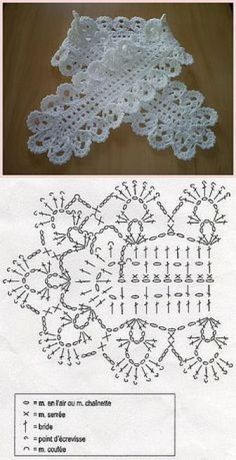 Crochet lace headband pattern ideas for 2019 Poncho Crochet, Col Crochet, Crochet Jacket Pattern, Crochet Lace Collar, Crochet Lace Edging, Crochet Diagram, Thread Crochet, Crochet Gifts, Crochet Scarves