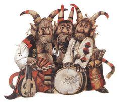 Чешский иллюстратор Karel Franta и его муза - Чёрт - Major Fon Skripka