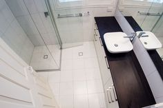 Overall view of the bathroom. Notice the crisp white setting of the new design. Bathroom Renovation in Brisbane Soutside Suburbs Bathroom Renovations Brisbane, Design Bathroom, News Design, Crisp, Old Things, Bathtub, Flooring, Home, Standing Bath