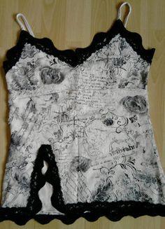À vendre sur #vintedfrance ! http://www.vinted.fr/mode-femmes/debardeurs/29650710-top-noir-et-blanc-jennyfer-borde-de-dentelle-noire