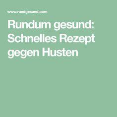 Rundum gesund: Schnelles Rezept gegen Husten Food And Drink, Health, Salzburg, Sport, Dessert, Orange, Drinks, Cough Remedies, Cough Medicine