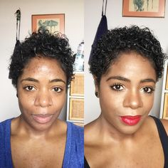 Before and after using my complimentary @covergirl #queencollection items from @influenster