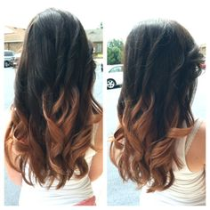 Dark brown am light red brown ombre
