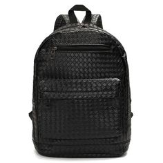 """Color    Black      Material    PU Leather      Weight    About 451g      Length    31cm(12.20"""")       Width    13.5cm(5.31"""")      Height    42cm(16.53"""")      Interior    Main Pocket,Interlayer      Closure Type    Zipper       Package Included: 1 * Backpack"""