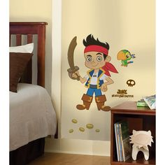 Bring the excitement of Jake and the Never Land Pirates to your room with this giant wall decal from RoomMates. Application is easy, just peel each pre-cut portion, smooth it on the wall, then continu