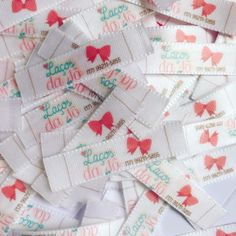Label Tag, Tags, Gift Wrapping, Gifts, Mini Bunting, Cool Stuff, Satin, Kid Outfits, Logo