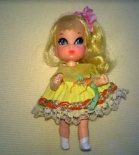 Liddle Kiddle Doll  Vintage Mattel Suki Skeddidler  Good Condition - this doll was made with tree hair colors - blonde, brunette and red head.