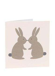 kissing bunnies Easter card from seed.