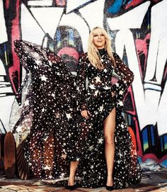 Britney Spears, looking gorgeous in a Dolce & Gabbana gown (from a photo shoot for Harper's Bazaar).