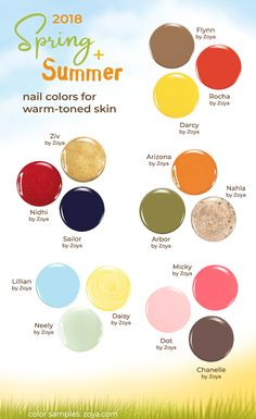 These summer nail polish colors look great with warm-toned or summer-tanned skin. And Zoya has hundreds of colors-- all free of the ten most toxic chemicals commonly found in nail polish. Nail Polish Dry Faster, Dry Nail Polish, Nail Polish Colors, Summer Nail Polish, Summer Nails, Natural Nail Polish, Natural Nails, Nail Polish Combinations, Skin Polish