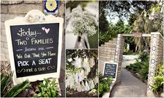 Wedding Signage. Chalkboard. Walled Garden.