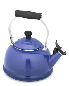 I love my blue le creuset teakettle even though I tend to heat my tea water in the microwave more often. But this is such a fun and effective kettle when I do use it.