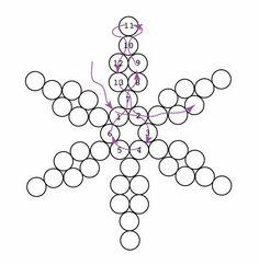 I går blev der lavet en masse nyt julepynt bl.a dettesnefnug i små træperler.Jeg har lavet en nem lille DIY med tilhørendemønster og tutorial. Free printable pattern Download snowflake pattern ...