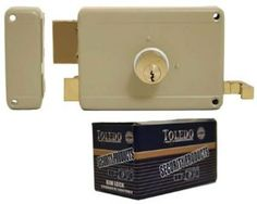 Deadbolt Rim Night Latch Door Lock Set (Best Heavy Duty Double Dead Bolt Keyed Cylinders & Yale Keyway) Left Hand~pull Handling Rim Lock by Toledo. $39.90. Toledo Lock's best heavy duty night latch lock combines the automatic locking mechanism of a spring-loaded latch with the manually-controlled throw bolt feature of a deadbolt. Sturdy rim lock is made of solid steel and brass components.This deadbolt rim night latch door lock set is designed with heavy duty ... Mortise Lock, Lock Set, Home Hardware, Door Locks, Usb Flash Drive, Doors, Sweet, Design, Image