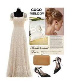 """""""Bridesmaid dress"""" by merima-kopic ❤ liked on Polyvore featuring wedding and Cocomelody"""