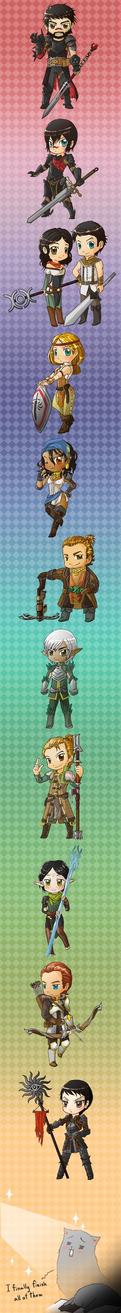 DA2 chibi character line up by spidercandy.deviantart.com on @deviantART