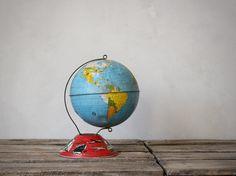 Vintage Tin Lithograph Globe