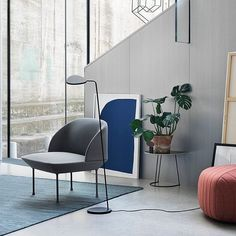 """FinnishDesignShop.com op Instagram: """"Favorites from Muuto: Varjo rug, Leaf lamp, Oslo chair, Airy table and Five pouf. Have a nice Friday friends! #muuto #homedecor #finnishdesignshop"""""""