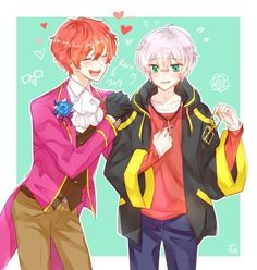 Swap clothes between Saeran and Saeyoung Mystic Messenger V, Mystic Messenger Unknown, Cute Anime Boy, Anime Art Girl, Mystic Messenger Characters, Saeran Choi, Saeyoung Choi, Jumin Han, Mystique