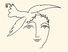 picasso face of peace - Google Search                                                                                                                                                                                 More
