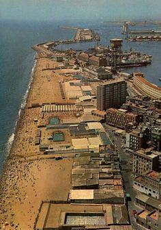 BARCELONETA 1960 You can see in this photograph the Baths of San Sebastian, already missing.Barcelona  Catalonia