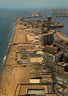 BARCELONETA 1960 You can see in this photograph the Baths of San Sebastian, already missing.Barcelona  Catalonia