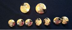 Austin Reed Buttons polished brass blazer jacket buttons set of 9 replacements #AustinReed